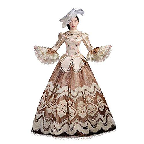 Zhenwo Vestido De Fiesta Vestido Rococó Barroco María Antonieta De La Bola De Los Vestidos De Noche del Vestido del Siglo 18 Renacentista Periodo Histórico Vestido De Fiesta,A,L