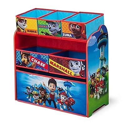 Paw Patrol Niños Juguete unidad de almacenamiento, 3niveles, 2o 3cajón organizadores niños azul/rojo tela muebles de solución de almacenamiento, cestas/contenedores para sala de juegos infantil, dormitorio, sala de estar de Paw Patrol