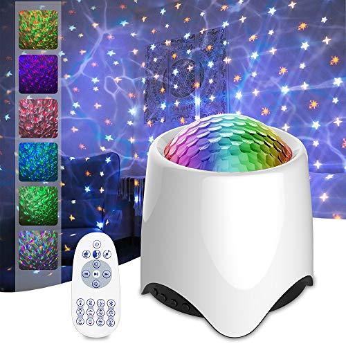 Nitasa Star Proyector para dormitorio, proyector de luz nocturna para niños, proyector Galaxy con función de ruido blanco, altavoz de...