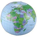 Fayme Globo hinchable con mapa de geografía, 40 cm