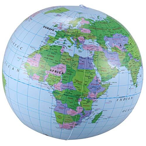 Gaetooely Aufblasbares Spielzeug Globus Ausbildung Geographie Karte Ballon Wasserball 40 cm