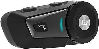 QUARKJK Bluetooth para motocicleta, intercomunicador de capacete, MP3, comando de voz FM com fio para rádio bidirecional, ...