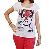 Photo de One in the City Kate Moss David Bowie T-Shirt Femme Celebrity - Blanc, M, t Shirt Femme,Cadeau
