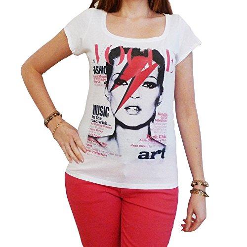 Kate Moss David Bowie : Damen T-Shirt 7015265 - Weiß, L, t Shirt Damen, Geschenk