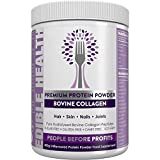 Premium Collagen Powder — Hydrolysed Bovine Protein Peptides - 13 x Cheaper + 13 x Stronger Than Capsules - 13,000mg - Hair, Skin, Nails, Bones, Wrinkles, Joints, Gut, Sport, Recovery, Keto. 400g Tub