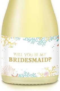 be my bridesmaid biatch wine label