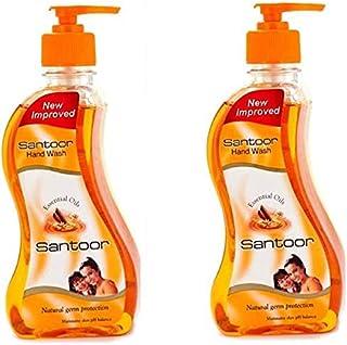 Santoor Sandalwood & Tulsi Hand wash One By One Pump Dispenser(2 x 215 ml)