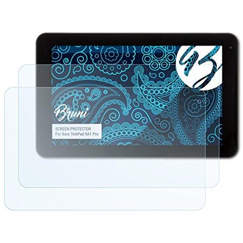 Bruni Schutzfolie kompatibel mit Xoro TelePad 9A1 Pro Folie, glasklare Bildschirmschutzfolie (2X)
