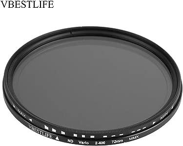 Topiky Ultra Slim Optical Glass ND2-400 Lens Filter Fader Neutral Dens...