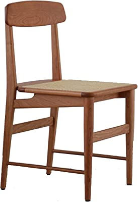 HFVDA Solid Wood Chair,Fashion Rattan Chair,Backrest Desk Chair,Comfortable Home Dining Stool,Leisure Balcony Stool,Study Room Reading Stool