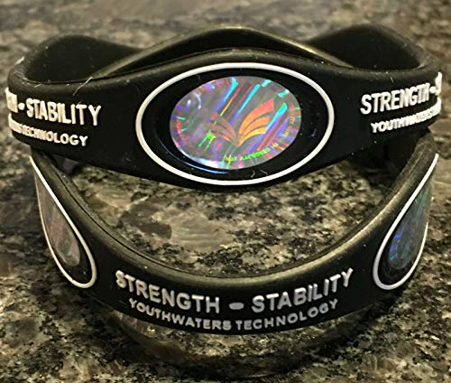 Strength Bracelet Top Rated #1 Powerful Dynamic Protection (Large Black)
