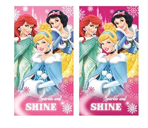 2er Pack - Set - tolle Geschenkidee Kinder -Handtuch Gesichtstuch Gästetuch - 35x 65 cm - 100% Baumwolle (Princess)