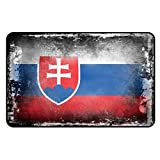 Cadora Magnetschild Kühlschrankmagnet Flagge Slowakei shabby chic abverwendet alt gebraucht