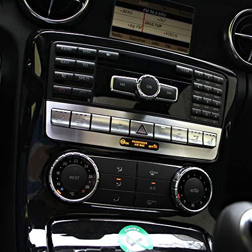 1 Zierblende für Mittelkonsole Schalterleiste Mercedes SLK 172 aus Aluminium R172 FL 280 200 350 AMG55 AMG45