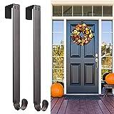 "Myfolrena Adjustable Wreath Hanger from 15""-24"", Metal Wreath Hook for Front Door, 20lb (Nickle-2 Pack)"