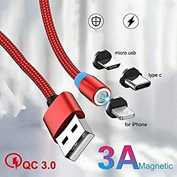 Color : Micro USB TD Lightning Cables Magnetic Charger CableType C//USB Compatible with S10 S9 S8 Plus Note 9 Z LG V30 and More Fast 3pack 3 Pack , Size : Connector