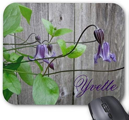 Tappetino per mouse personalizzato Clematis Roguchi viola mousepad