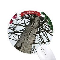 葉のないモミ クリスマスツリーの滑り止めゴム形のマウスパッド