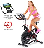 Miweba Sports Indoor Cycling MS300 Fitnessbike - 13 Kg Schwungmasse - Stufenfreie...