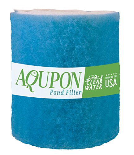 AQUPON Koi Pond Filter Media Pad - Cut to Fit Roll (Dye-Free/Blue Bonded) - 1.25 Inch Thickness (6 ft, Blue)