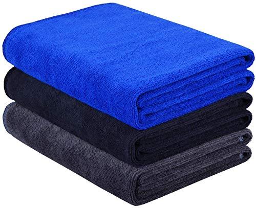 Toallas deportivas de microfibra de secado rápido, absorbentes para entrenamiento, para gimnasio, fitness, yoga, camping, viajes, paquete de 3 unidades, 40 cm x 80 cm
