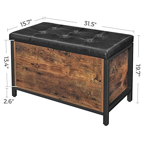 VASAGLE-COPADION-Storage-Bench-Flip-Top-Storage-Ottoman-and-Trunk-with-Padded-Seat-Bed-End-Stool-Hallway-Living-Room-Bedroom-Supports-198-lb-Industrial-Rustic-Brown-ULSC80BX