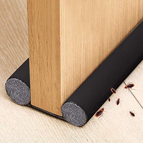 Xnuoyo PU Burlete para Puertas, Cortable, con Doble Junta de Protección Para Evitar El Viento, El Polvo, Los Insectos Y El Aislamiento AcúStico