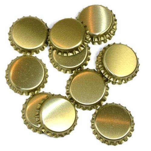 Dekohelden24 1000 Kronkorken Gold ungestanzt - zum Bier Selber brauen und zum verschließen jeglicher Standartflaschen