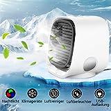 4 in 1 Mobile klimageräte,Mini Persönliche Klimaanlage Leise Luftkühler Air Cooler Ventilator USB...