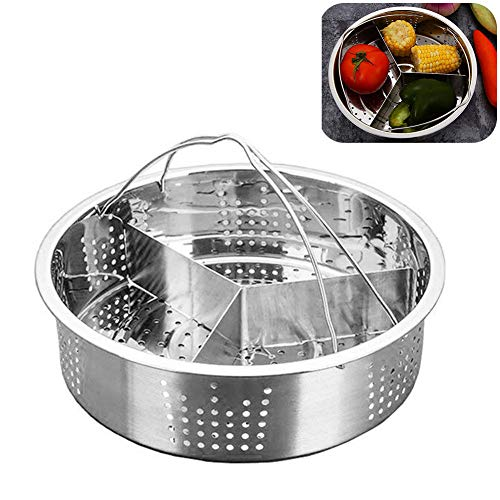 3 Pcs Set Steamer Basket Rack Set for Instant Pot Accessories, Stainless Steel Steam Baskets, Egg Steaming Holder Rack Stand,Pressure Cooker (21 * 13cm)