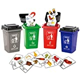 NUOBESTY Garbage Classification Toy 1 Set, Household Mini Trash Can Funny Teaching Game Pretend Play Toy...