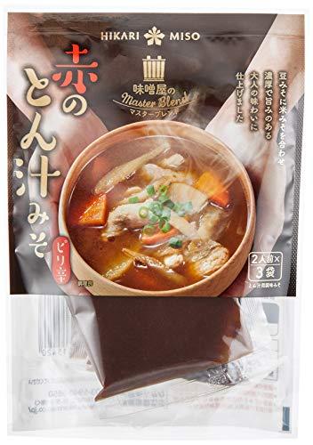 ひかり味噌 味噌屋のマスターブレンド 赤のとん汁みそ (2人前×3袋入) ×10袋