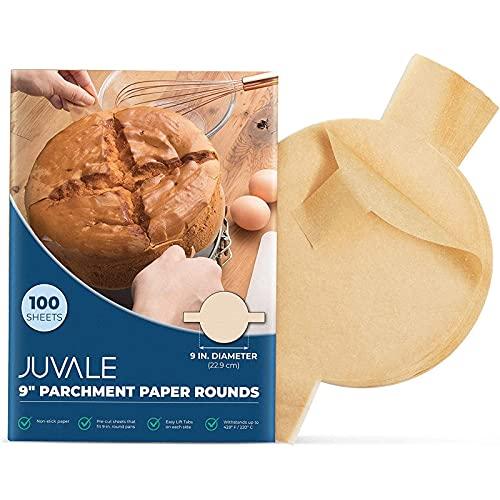 Juvale Unbleached Baking Parchment Paper Rounds