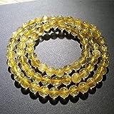 Brasile 100% Oro Naturale al Quarzo rutilato 6 * 108 Perline Rotonde Braccialetto Buddha Donne Uomo Crystal Gemstone Reiki Stretch