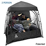 EasyGoProducts CoverU Sports Shelter –Weather Tent Pod – Patented (2 People-Black)