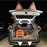 Halloween Bat Trunk or Treat Car Archway Garage Decoration with with Eyes, Fangs, Ears, Wings and Double Side Stickers