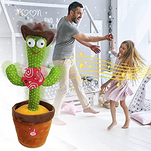 BBVP Early Childhood Education Toys Singing 120 Songs,Electronic Shake Singing Dancing Stuffed Doll Cactus Plush Toys with colorful LED lighting,Creative Toys Gifts for Kids Home Ornament