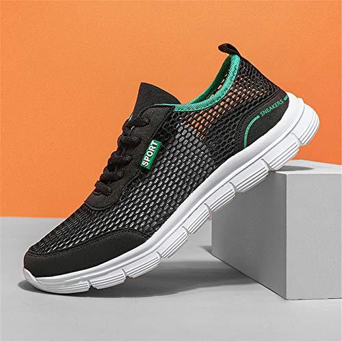 Mesh Toevallig Schoenen, Heren Sneakers Heren Schoenen Summer Soft Instappers Lazy Shoes Lichtgewicht Goedkope,Black,43