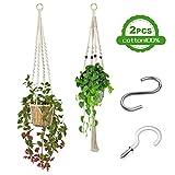 Colgador de Plantas, 2 Unidades Macetas Macrame Plantas, Soporte para Macetas de...