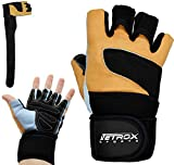 Netrox Crossfit - Guantes de ciclismo para entrenamiento de fuerza, culturismo, fitness, deportes, ciclismo, levantamiento de pesas, levantamiento de pesas, gimnasio, press de banca, fuerza (L)