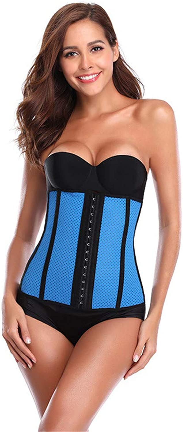 Postpartum Recovery Belt 9 Bone Breathable Mesh Rubber Corset Women's Abdominal Belt (Size   S)