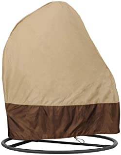 RTWAY Patio Hanging Chair Cover, Egg Swing Chair Cover Waterproof Heavy Duty Outdoor Furniture Protector Cover, 74.8'' L x...