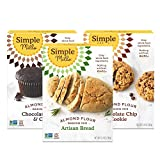 Simple Mills, Baking Mix Variety Pack, Chocolate Muffin & Cake, Chocolate Chip Cookie, Artisan Bread...