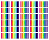 2800 Pieces Flag Tabs - Wellerly Page Markers Tabs Colored Sticky Notes Pop up Index Book Tape Strip Neon Page Flags Adhesive Assorted - 20 Sets 7 Colors