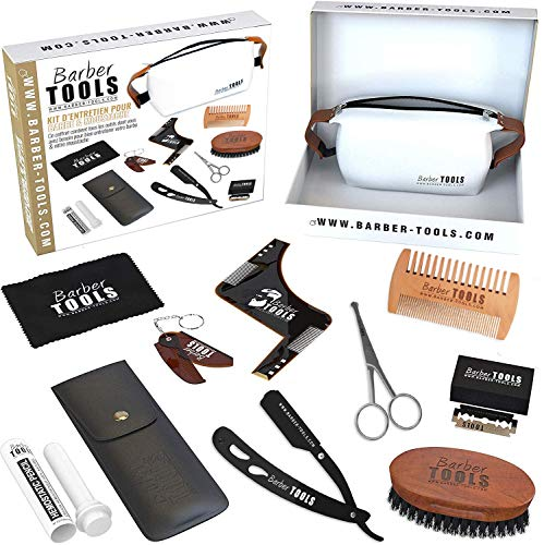 ✮ BARBER TOOLS ✮ Kit/Set/Estuche de arreglo y cuidado de la barba...