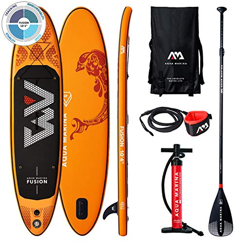AM AQUA MARINA Set de Stand Up Paddle Board Inflable Fusion 2020 iSUP Espesor 10.4 Pulgadas Stand-Up Paddling Sup-Board 315 x 76 x 15 cm