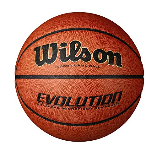 "Wilson Evolution Game Basketball, Black, Official Size - 29.5"""