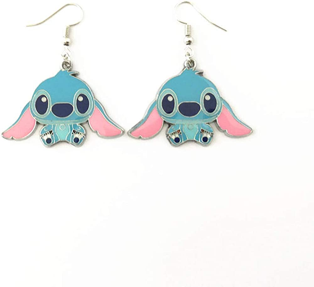 Ranking TOP7 National products Fandom Bazaar Anime Cartoon 1.5X0.8in for stitch Gifts Earrings