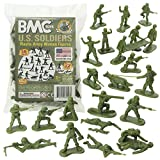 BMC Plastic Army Women - 36pc OD Green Female Soldier Figures - Made in USA