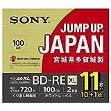 SONY ビデオ用ブルーレイディスク 11BNE3VNPS2 (BD-RE 3層 100GB 2倍速 10枚+1枚の増量パック)